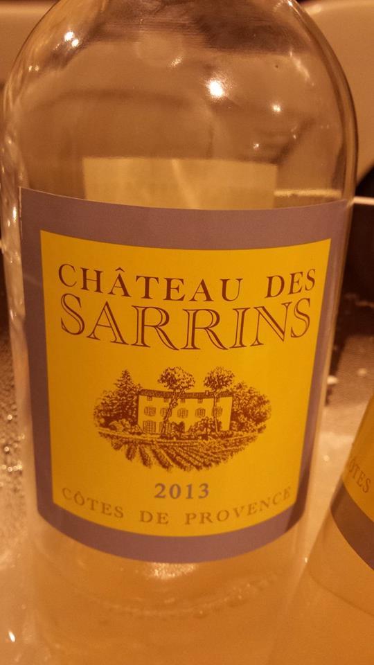 Château des Sarrins 2013 – Côtes de Provence