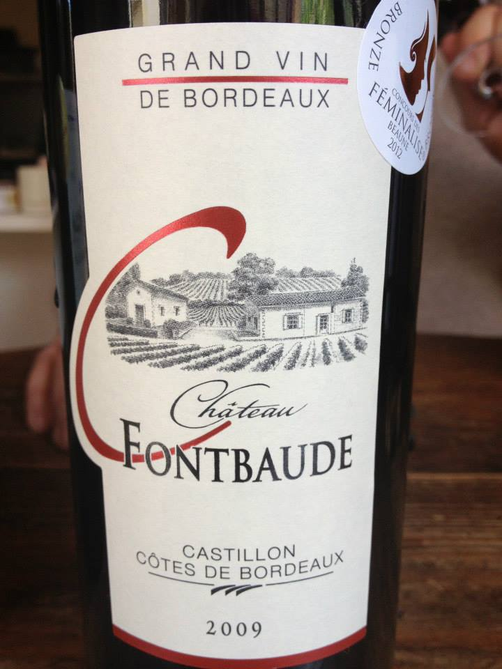 Château Fontbaude 2009 – Castillon Côtes de Bordeaux