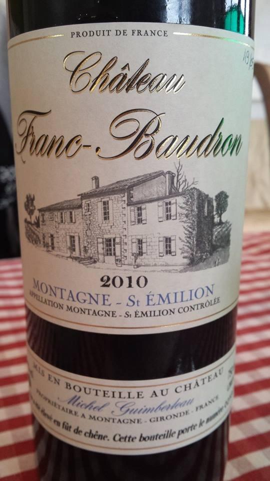 Château Franc Baudron 2010 – Montagne Saint-Emilion