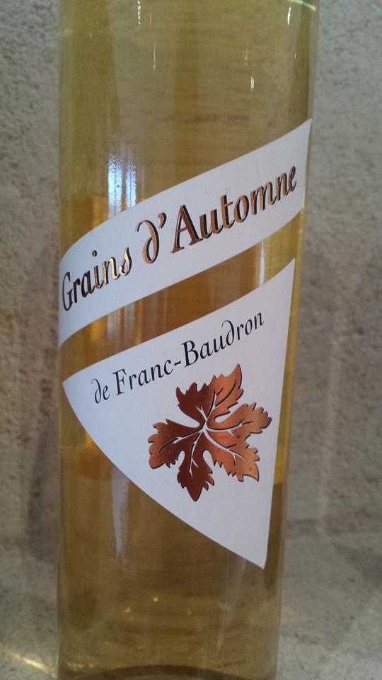 Le Grain d'Automne de Franc Baudron 2011 – Bordeaux