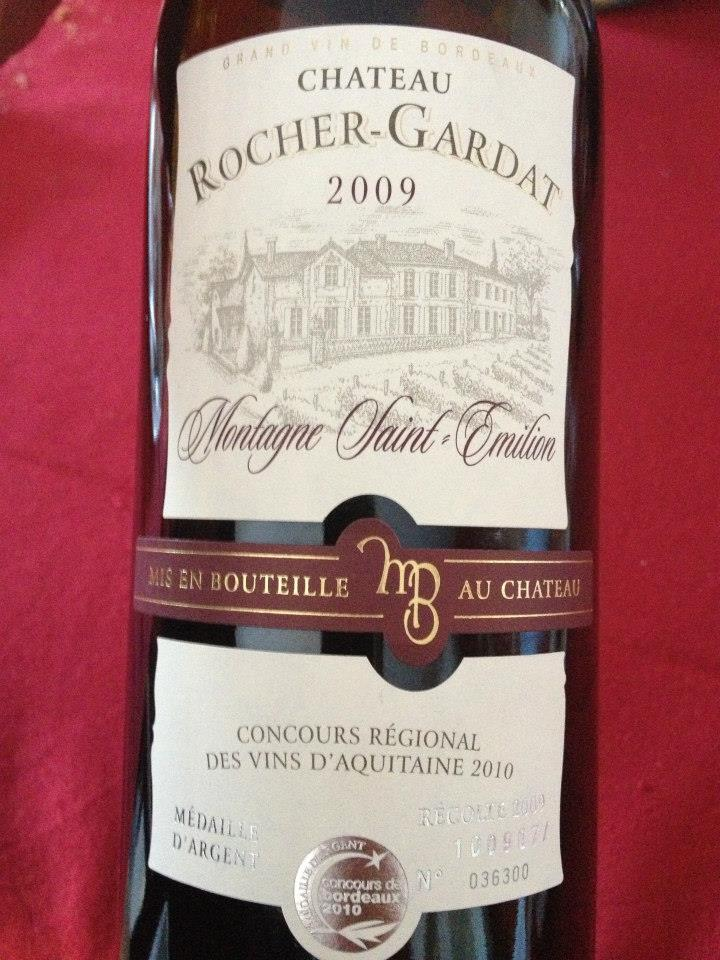 Château Rocher-Gardat 2009 – Montagne Saint-Emilion