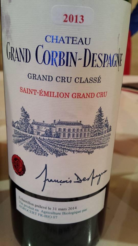 Château Grand Corbin Despagne 2013 – Grand Cru Classé – Saint-Emilion Grand Cru