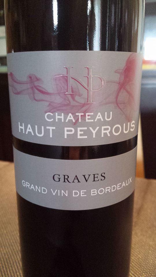 Château Haut Peyrous– L'Elégance 2011 – Graves