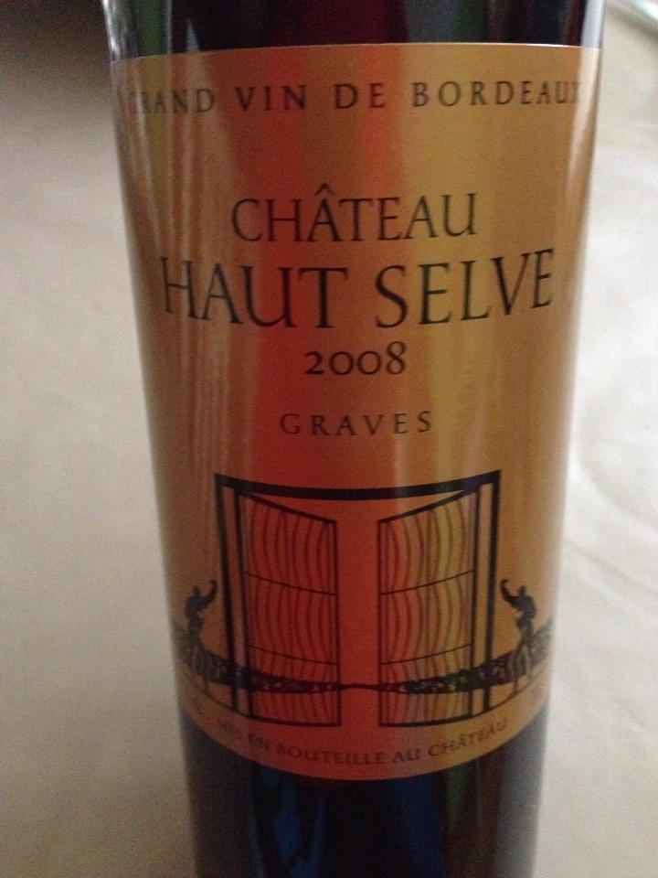 Château Haut Selve 2008 – Graves