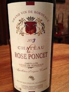 Château La Rose Poncet – Cuvée Tradition 2009 – Castillon Côtes de Bordeaux