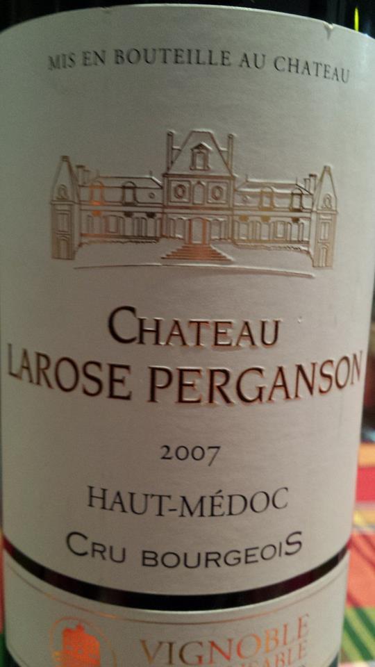 Château Larose Perganson 2007 – Haut-Médoc – Crus Bourgeois