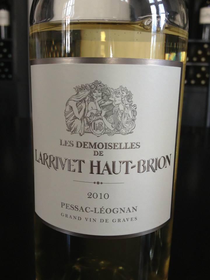 Les Demoiselles de Larrivet Haut-Brion 2010 – Pessac Leognan (Blanc)