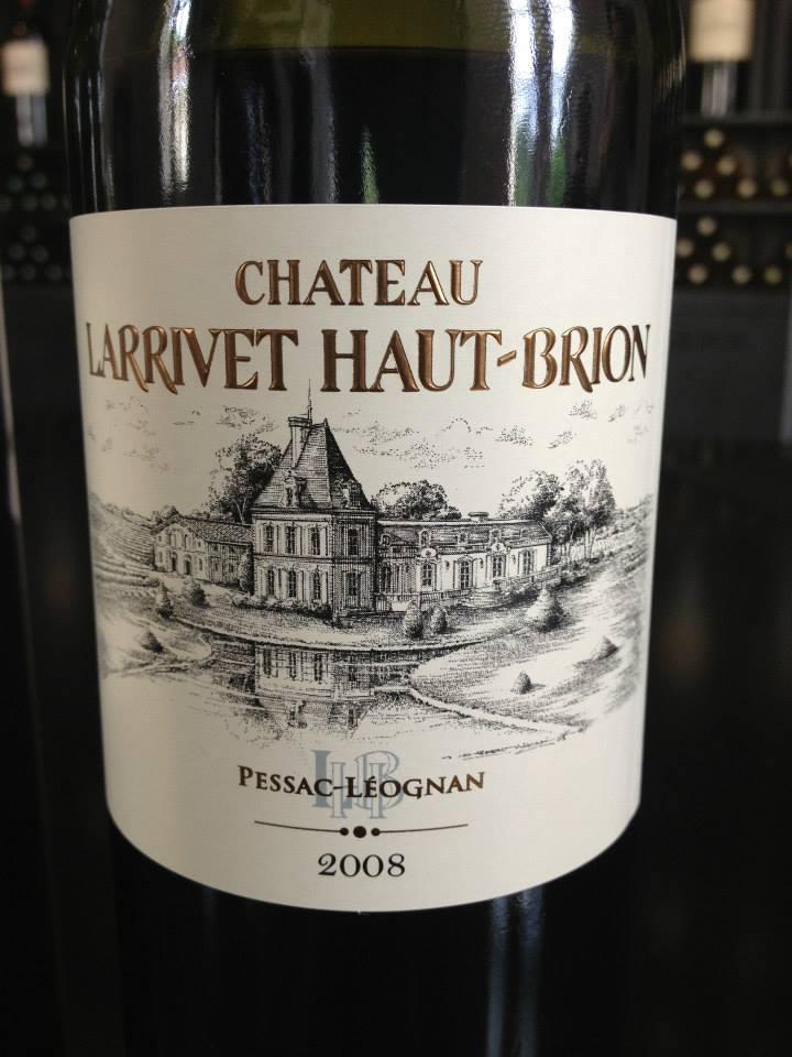 Château Larrivet Haut-Brion 2008 – Pessac Leognan (rouge)