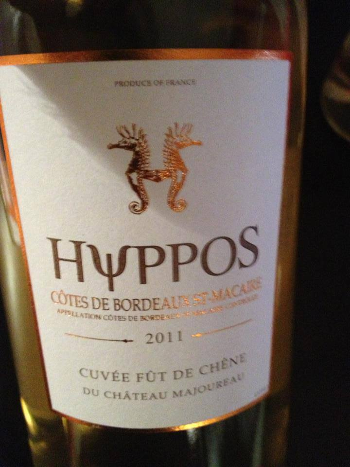 Hyppos du Château Majoureau – Cuvée fût de chêne 2011 – Côtes de Bordeaux St-Macaire