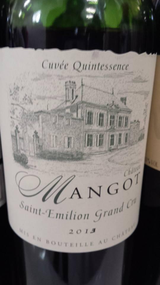 Château Mangot 2013 – Cuvée Quintessence – Saint-Emilion Grand Cru