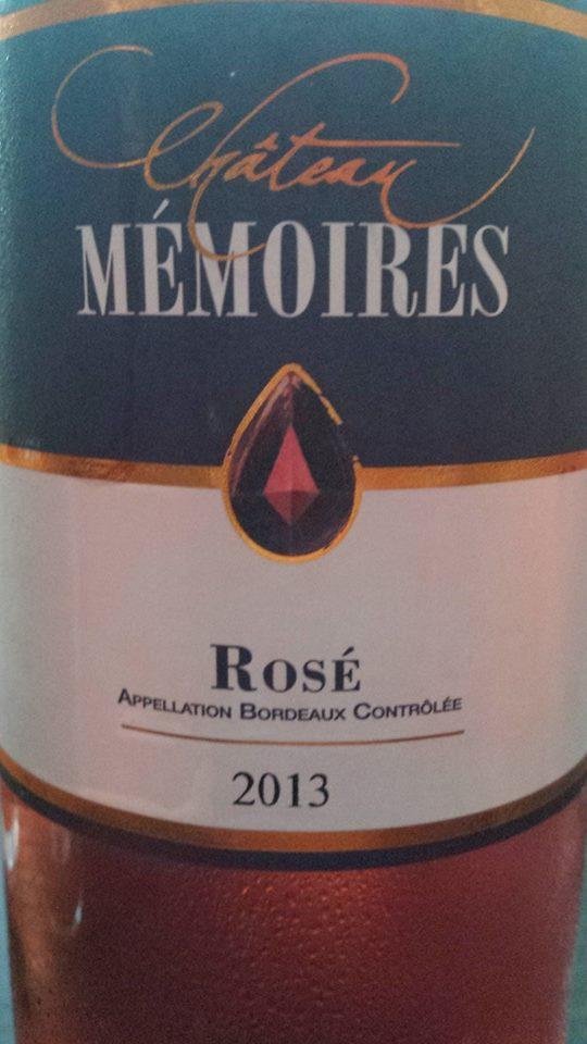 Château Mémoires 2013 – Bordeaux Rosé