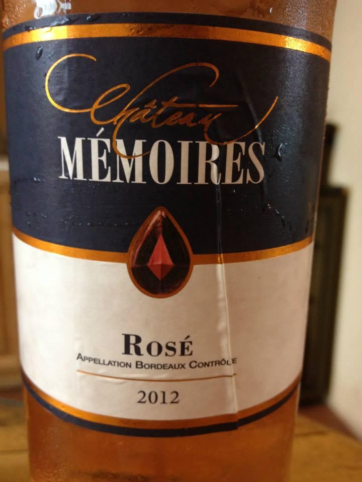 Château Mémoires – Rosé 2012 – Bordeaux