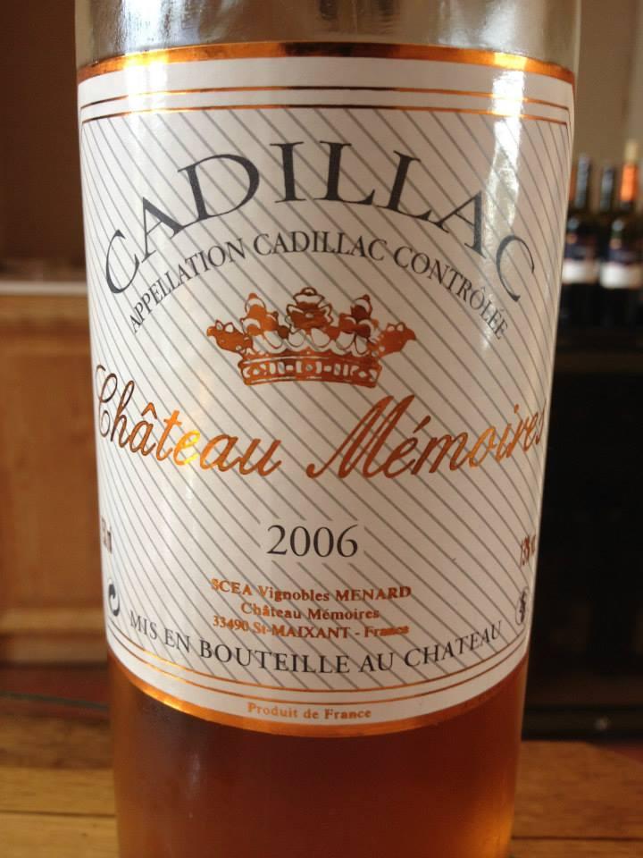 Château Mémoires 2006 – Cadillac