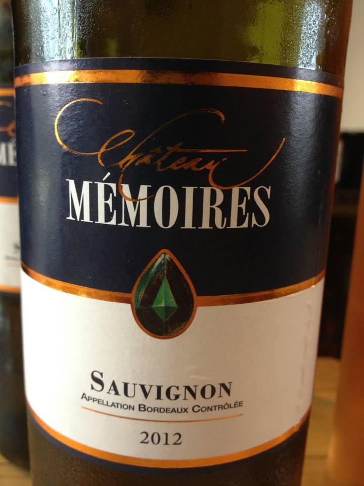 Château Mémoires – Sauvignon Blanc 2012 – Bordeaux