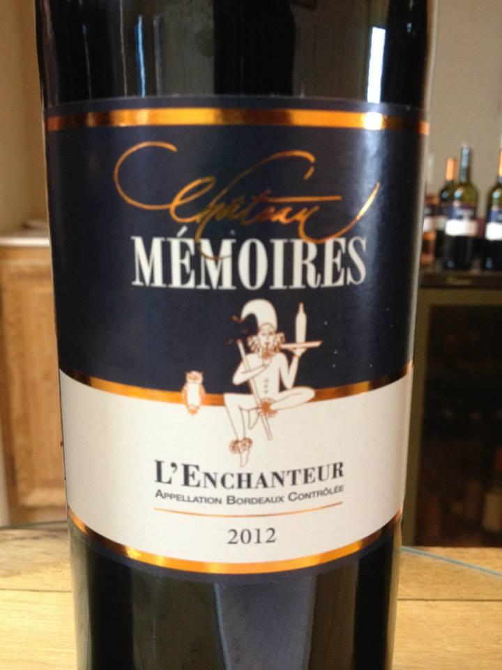 Château Mémoires – L'enchanteur 2012 – Bordeaux