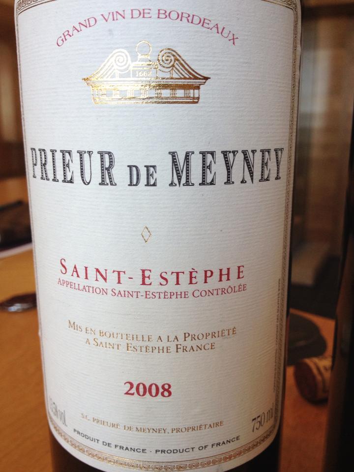 Prieur de Meyney 2008 – Saint-Estèphe
