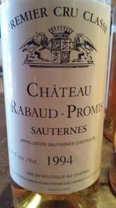 Château Rabaud-Promis 1994 – 1er Grand Cru Classé de Sauternes