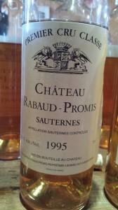 Château Rabaud-Promis 1995 – 1er Grand Cru Classé de Sauternes