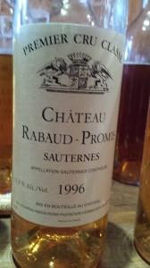 Château Rabaud-Promis 1996 – 1er Grand Cru Classé de Sauternes