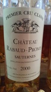 Château Rabaud-Promis 2000 – 1er Grand Cru Classé de Sauternes