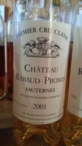 Château Rabaud-Promis 2001 – 1er Grand Cru Classé de Sauternes