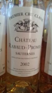 Château Rabaud-Promis 2002 – 1er Grand Cru Classé de Sauternes