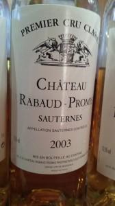 Château Rabaud-Promis 2003 – 1er Grand Cru Classé de Sauternes