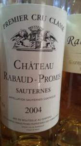 Château Rabaud-Promis 2004 – 1er Grand Cru Classé de Sauternes