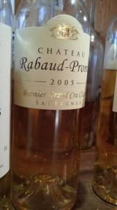 Château Rabaud-Promis 2005 – 1er Grand Cru Classé de Sauternes