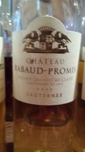 Château Rabaud-Promis 2010 – 1er Grand Cru Classé de Sauternes