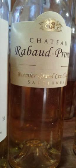 Château Rabaud-Promis 2012 – 1er Grand Cru Classé de Sauternes
