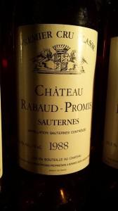 Château Rabaud-Promis 1988 – 1er Grand Cru Classé de Sauternes