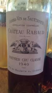 Château Rabaud-Promis 1940 – 1er Grand Cru Classé de Sauternes