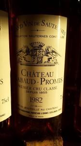 Château Rabaud-Promis 1982 – 1er Grand Cru Classé de Sauternes