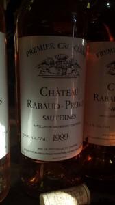 Château Rabaud-Promis 1989 – 1er Grand Cru Classé de Sauternes