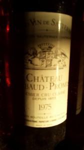 Château Rabaud-Promis 1975 – 1er Grand Cru Classé de Sauternes