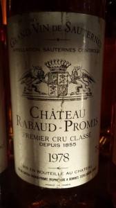 Château Rabaud-Promis 1978 – 1er Grand Cru Classé de Sauternes