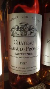 Château Rabaud-Promis 1987 – 1er Grand Cru Classé de Sauternes