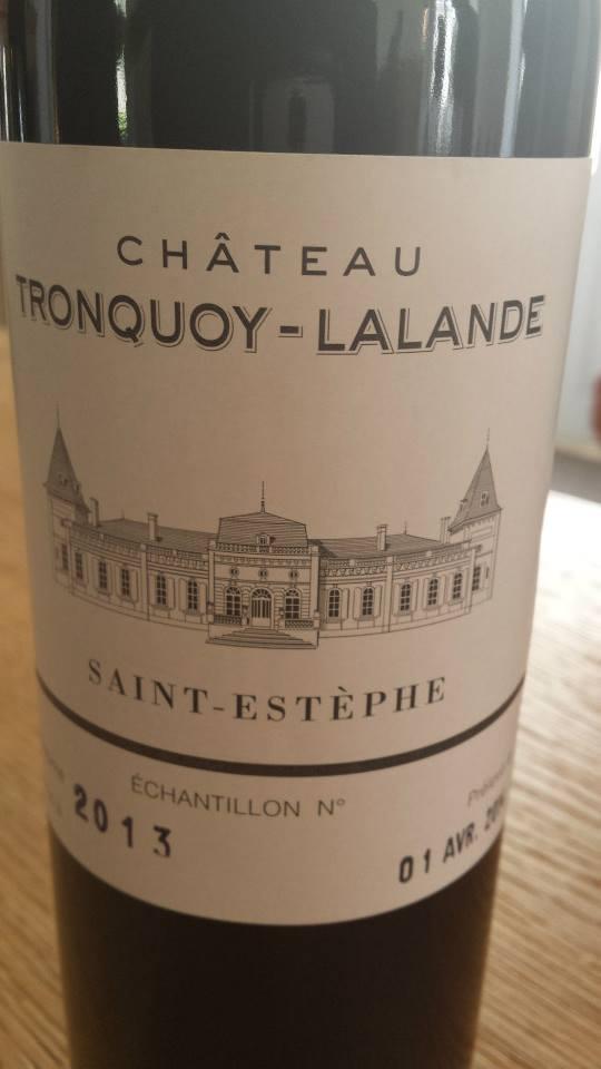 Château Tronquoy-Lalande 2013 – Saint-Estèphe