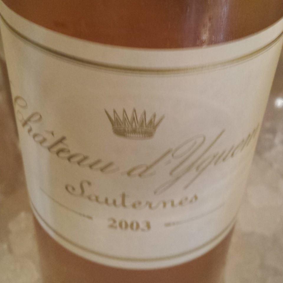 Château d'Yquem 2003 – 1er Grand Cru Classé Supérieur de Sauternes