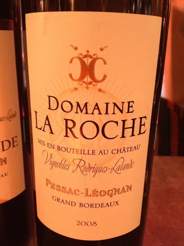 Domaine La Roche 2008 – Pessac Léognan