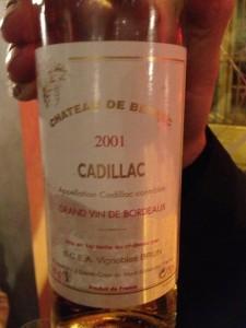 Château de Berbec 2001 – Cadillac
