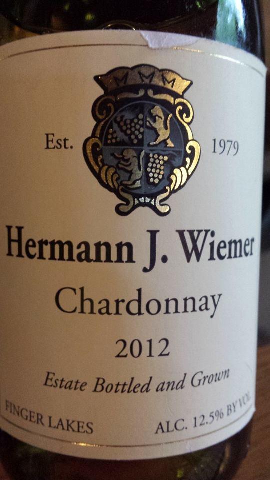 Hermann J. Wiemer Vineyard – Chardonnay 2012 – Finger Lakes