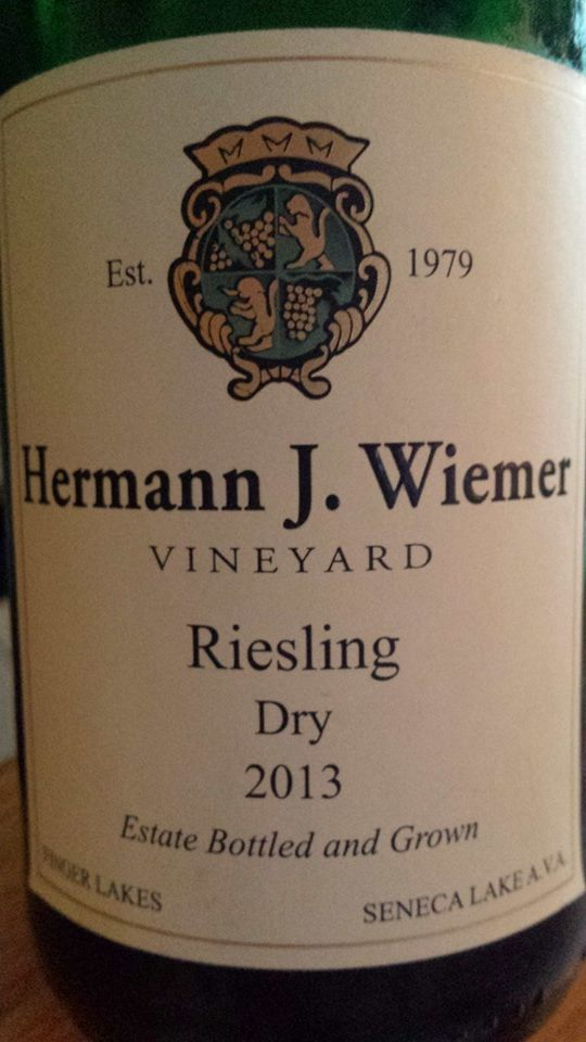 Hermann J. Wiemer Vineyard – Dry Riesling 2013 – Finger Lakes – Seneca Lake AVA