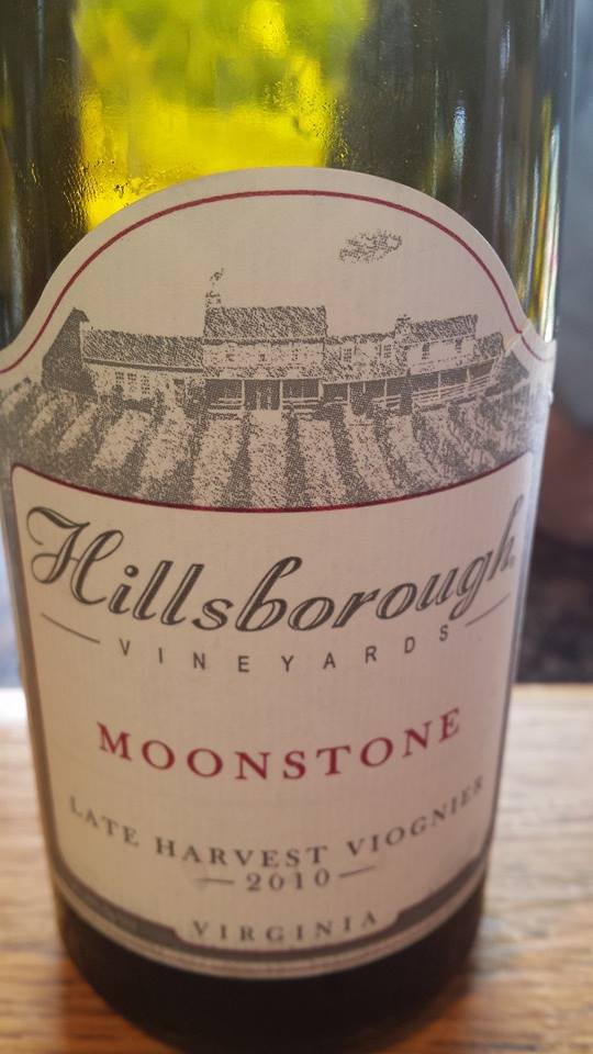 Hillsborough Vineyards – Moonstone 2010 – Late Harvest– Northern Virginia