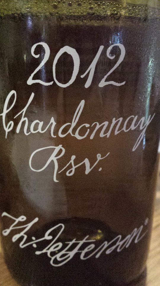 Jefferson Vineyards – Chardonnay 2012 – Monticello