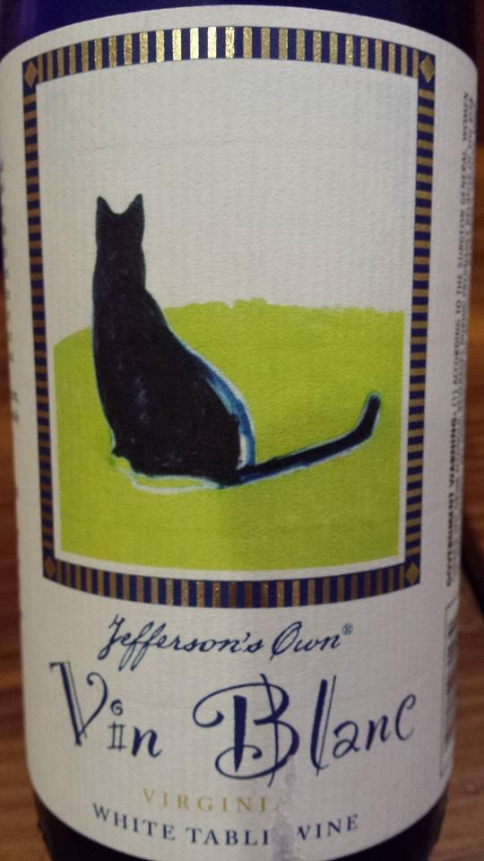Jefferson Vineyards – Vin Blanc 2012 – Virginia Table Wine