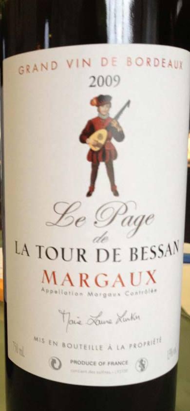 Le Page de la Tour de Bessan 2009 – Margaux
