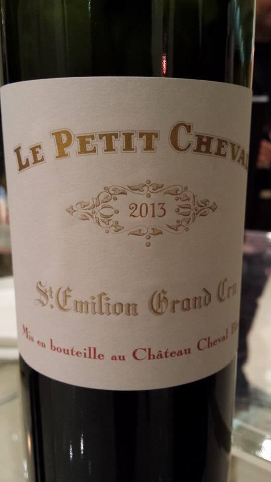 Le Petit Cheval 2013 – 2nd Vin du Château Cheval Blanc – Saint-Emilion Grand Cru