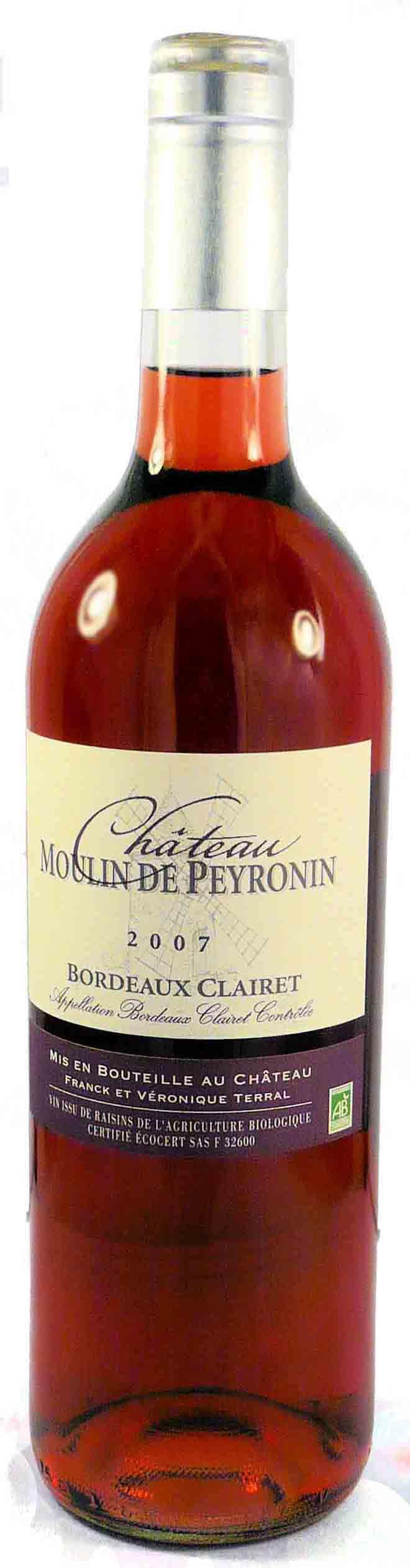Château Moulin de Peyronin 2011 – Bordeaux Clairet